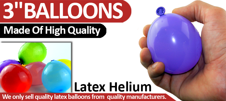 """3/"""" INCH BALLOON MIX SMALL LATEX HELIUM AIR WATER BALLOONS PARTY NEW DECORATION"""