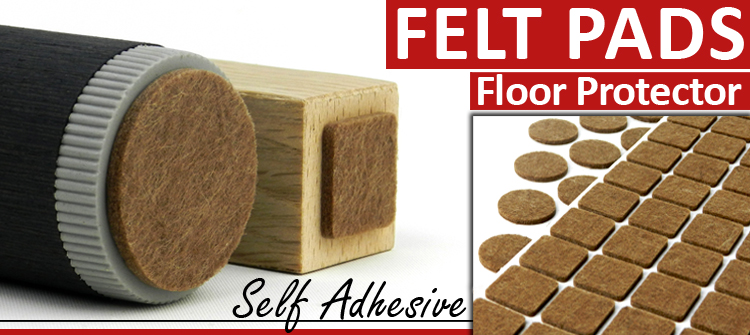 REAL FELT FURNITURE PADS SELF ADHESIVE FLOOR LAMINATE
