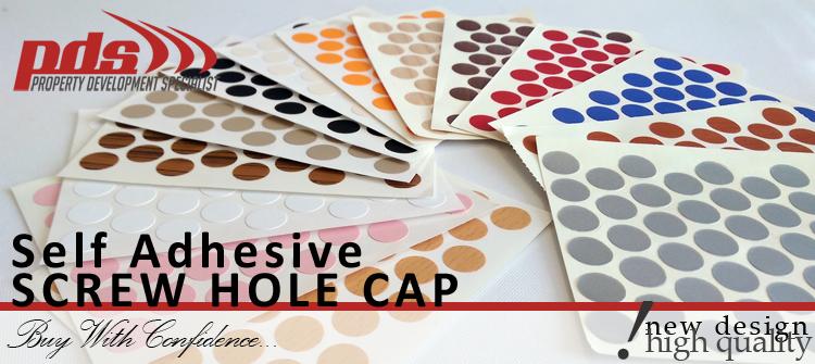 Self Adhesive Cover Caps Stick Furniture Sticker Screw Hole 18mm Wood Maple