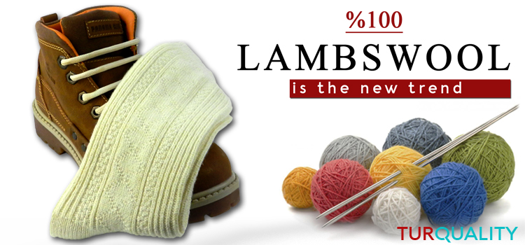 /%100 LAMBSWOOL PAIR OF THICK UNISEX PURE KNITTED WOOL WOOLEN ALL SEASON SOCKS